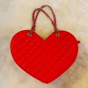 Bebe Heart Shaped Large Purse GUC